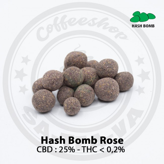 Résine CBD HASH BOMB ROSE
